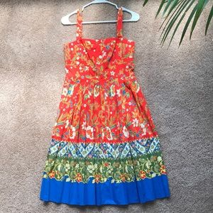 Tory Burch Fernanda Border Print Dress